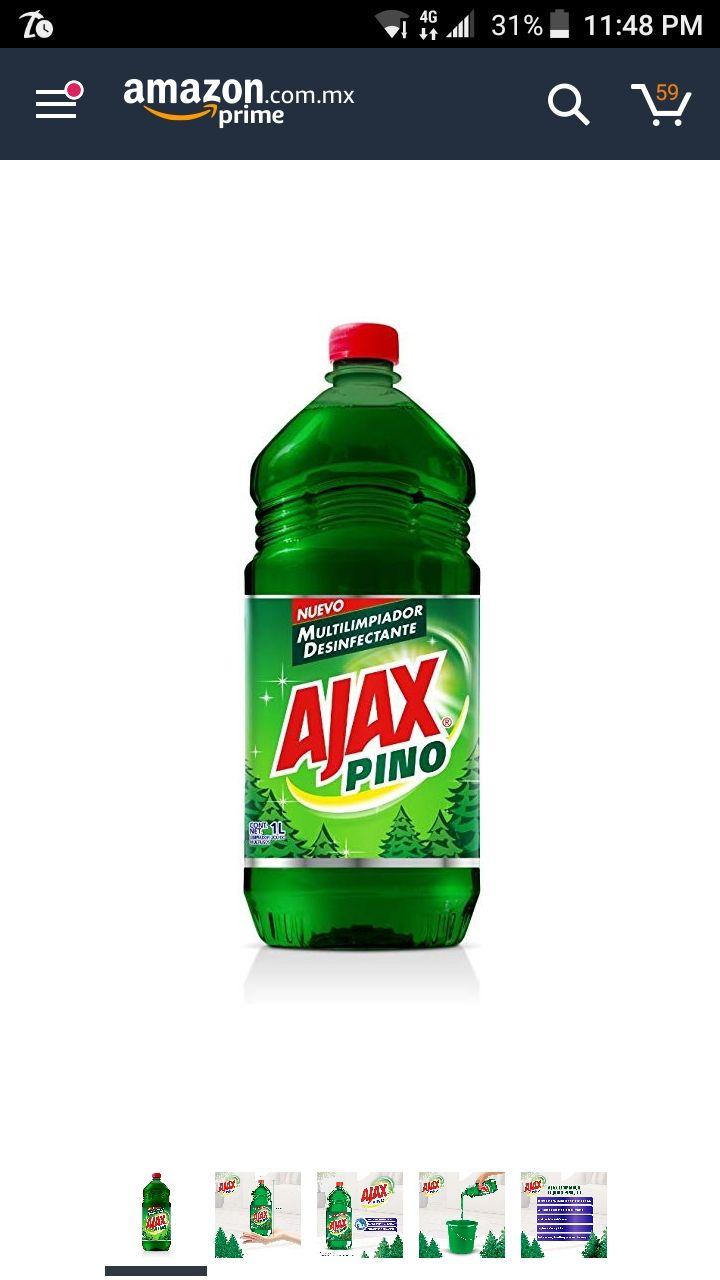 Amazon: Ajax Limpiador Líquido Pino, 1 L entra en carrito del ahorro
