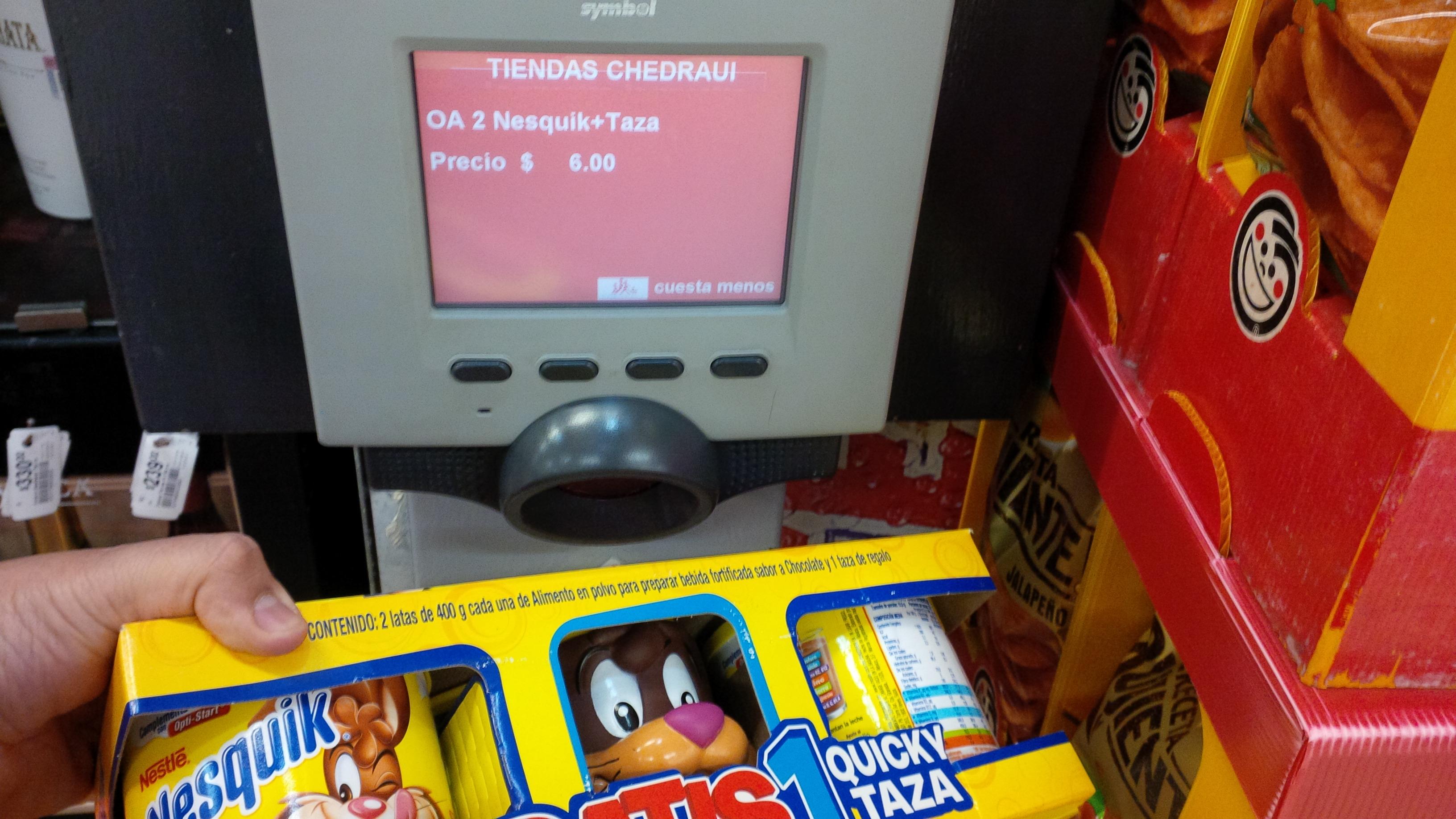 Chedraui: pack de 2 latas de Nesquik de 400gr mas taza a $6