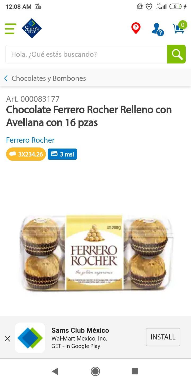 Sam's Club: Ferrero Rocher (3x$234)