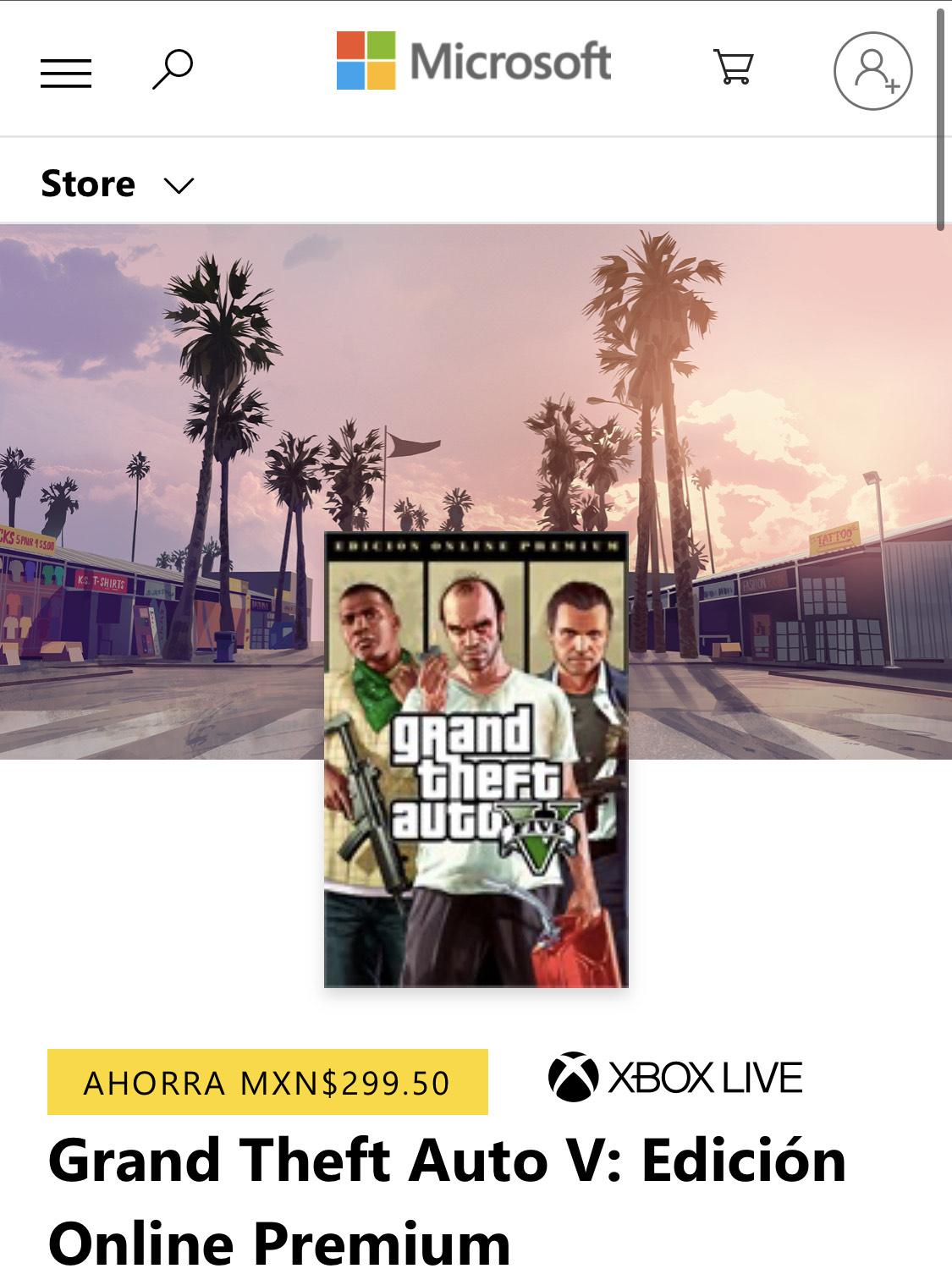 Microsoft Store: Grand Theft Auto V: Edición Online Premium Xbox One