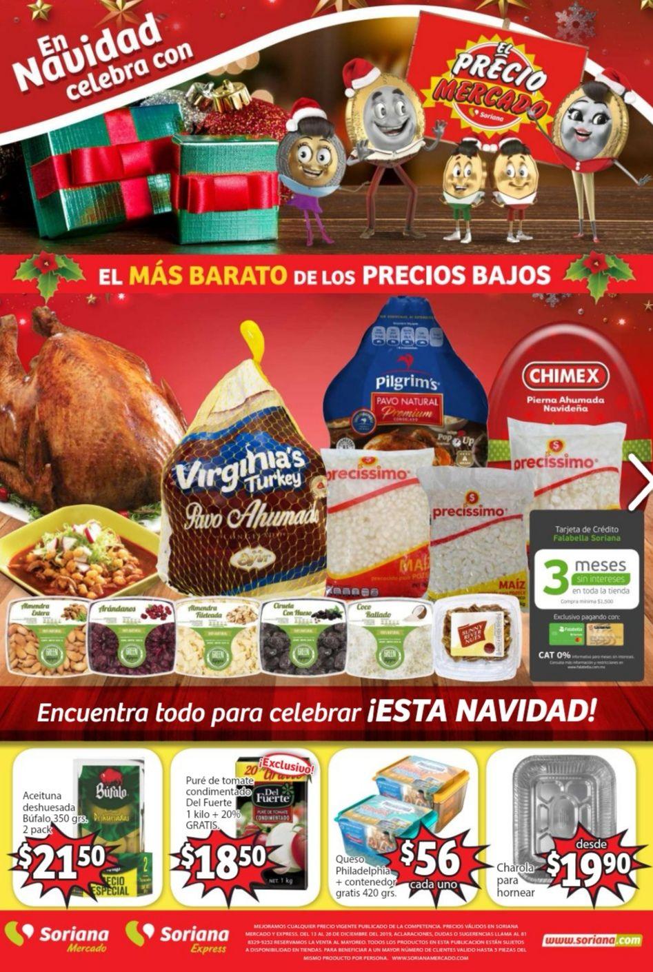 Soriana Mercado y Express: Folleto de Ofertas Quincenal del Viernes 13 al Jueves 26 de Diciembre