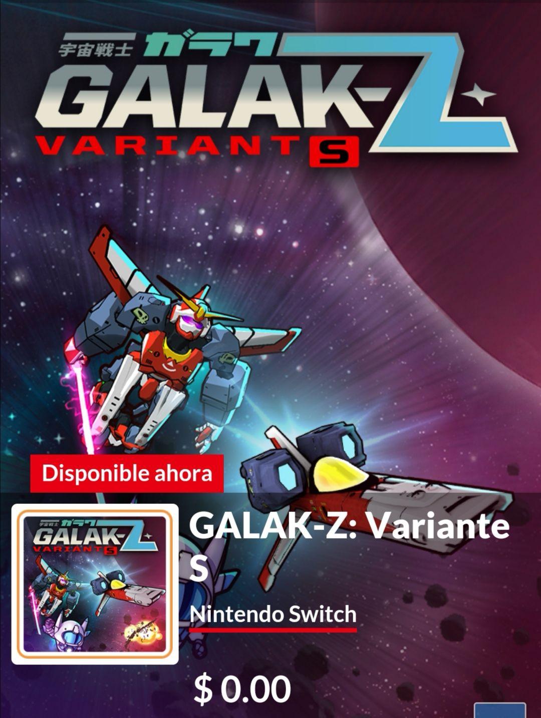 Nintendo Eshop: Galak Z GRATIS