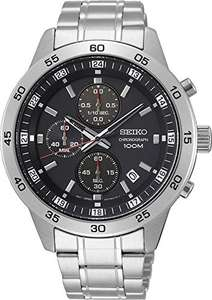 Amazon: Reloj Seiko cronógrafo de acero inoxidable 44mm