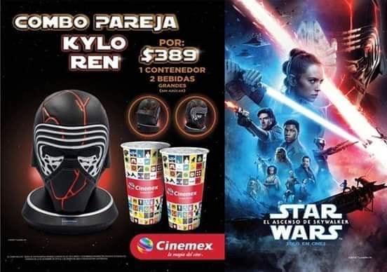 Cinemex: Combo Star Wars