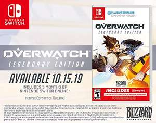 Amazon: Overwatch Legendary Edition para Nintendo Switch