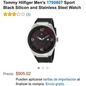 Amazon MX: Tommy Hilfiger Men's 1790807 Sport Black Silicon and Stainless Steel Watch a $905