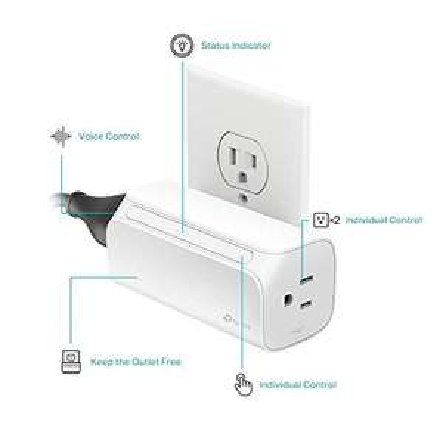 Amazon: TP-Link Kasa Smart - Enchufe WiFi, Enchufe inteligente de doble salida