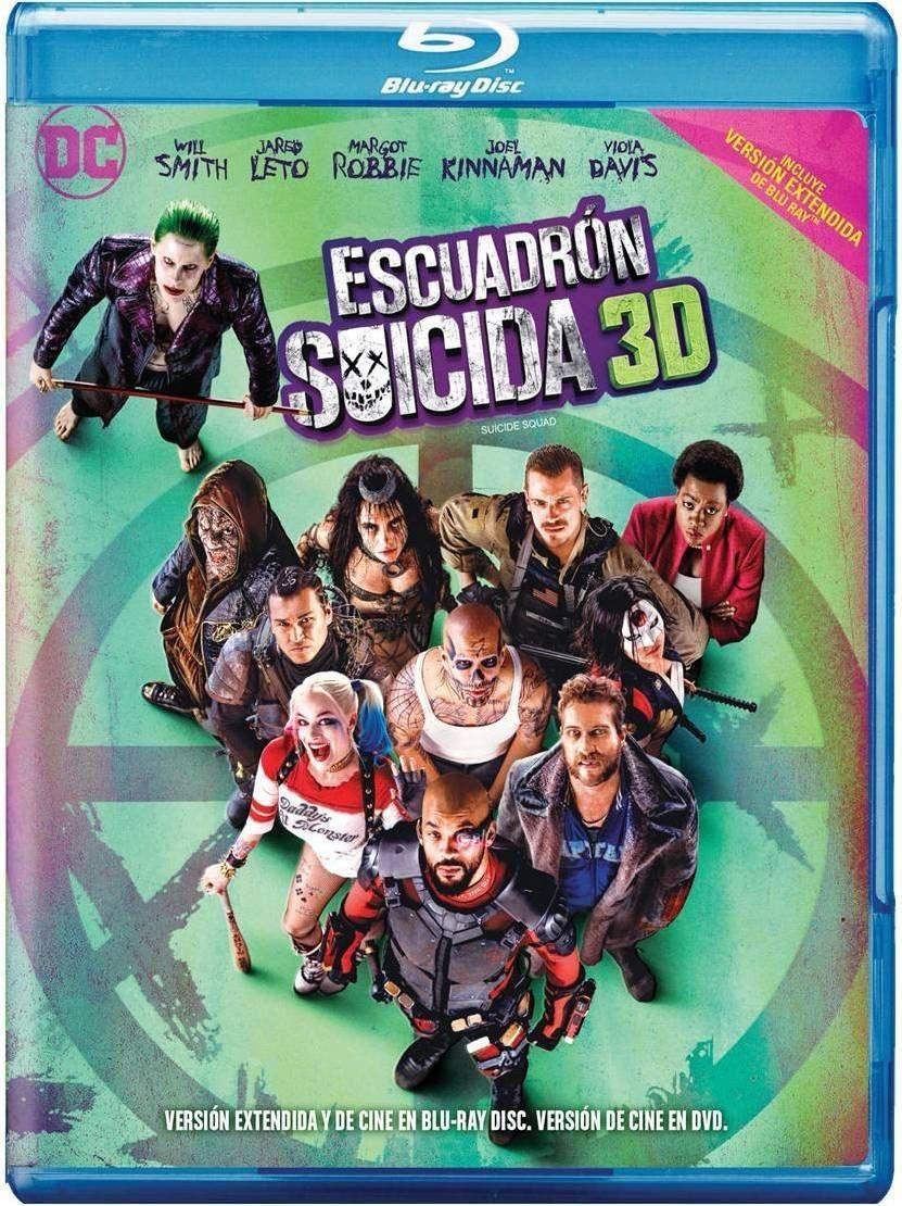 Amazon: Escuadrón Suicida Blu Ray 3D + Blu Ray + dvd + Copia Digital