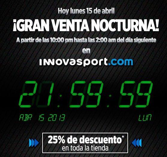 Venta Nocturna Innova Sport: 25% de descuento en toda la tienda online