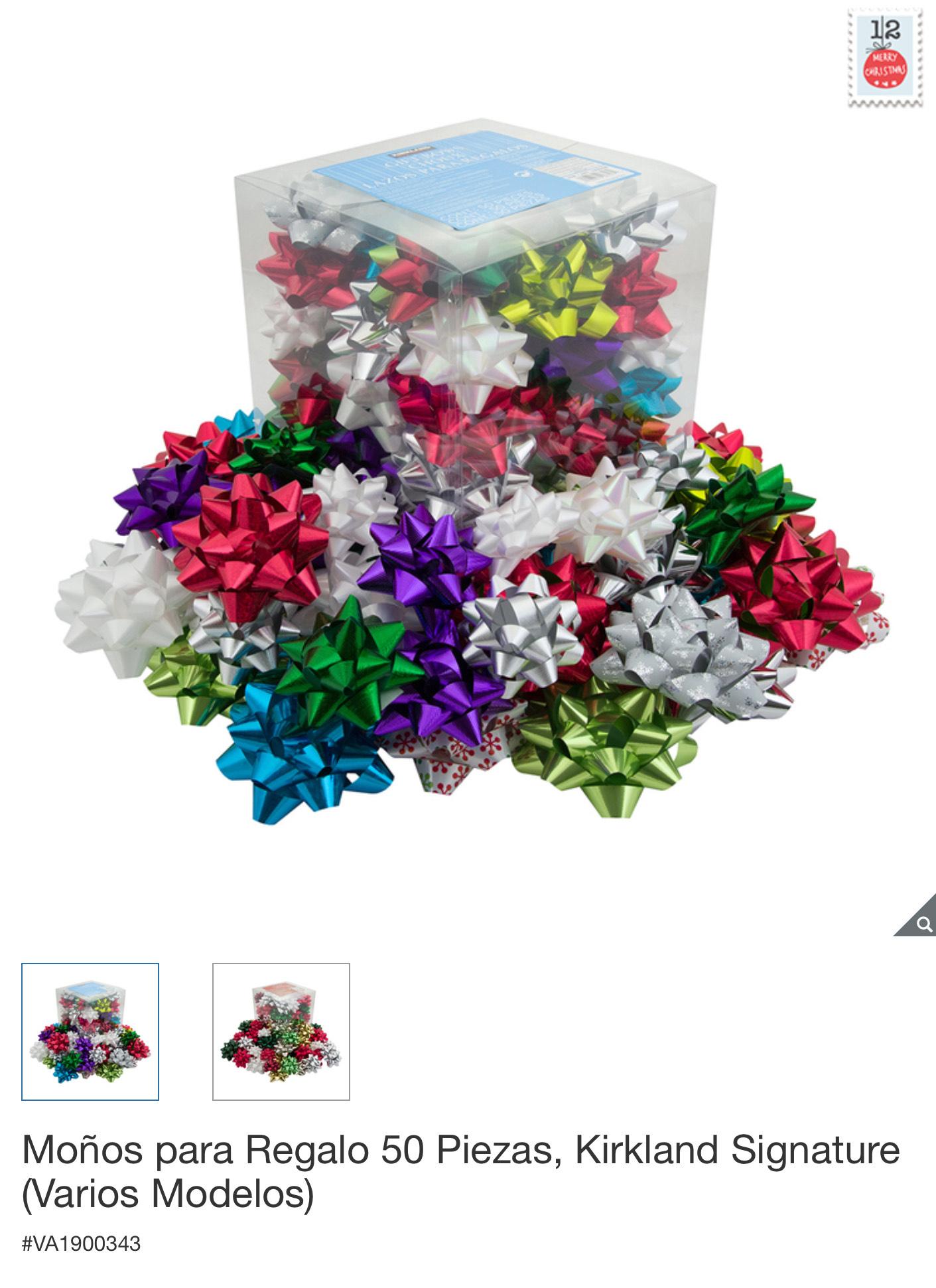 Costco 50 súper moños para regalos, de $199.00 a $99.00