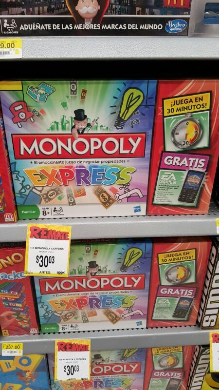 Bodega Aurrerá: Monopoly a $30.03, Operando a $125.03 y otros juegos en descuento