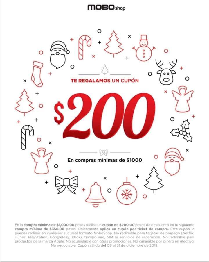 MOBO 200 de regalo en tu siguiente compra
