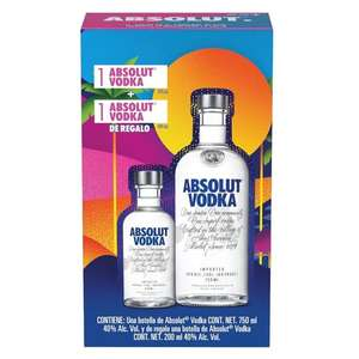 Chedraui - Vodka Absolut Orig 750 M + Absolut 200M