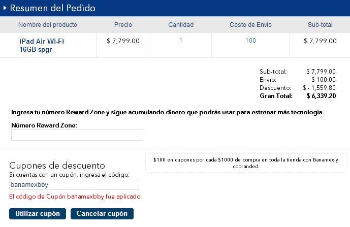 Best Buy: -20% en iPads, meses sin intereses y bonificación con Banamex. Ejemplo iPad Air $6,399