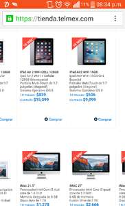 Telmex: Todas las iPad, MacBook y iMac a 18 msi