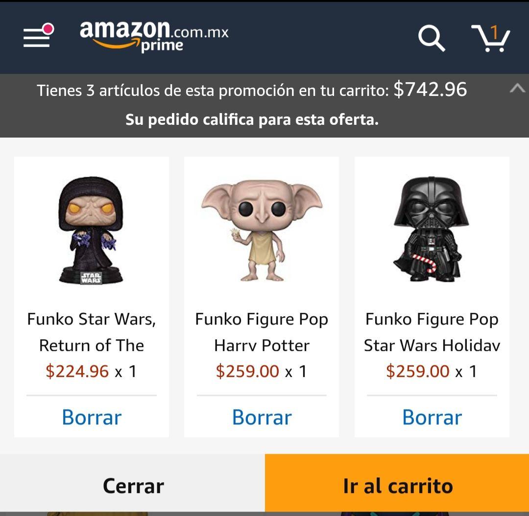 Amazon: Funko pop seleccionados al 3x2