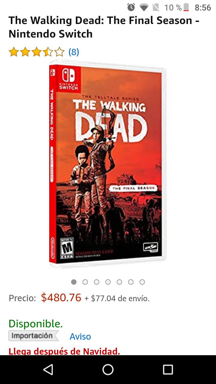 Amazon: The Walking Dead: The Final Season para Nintendo Switch