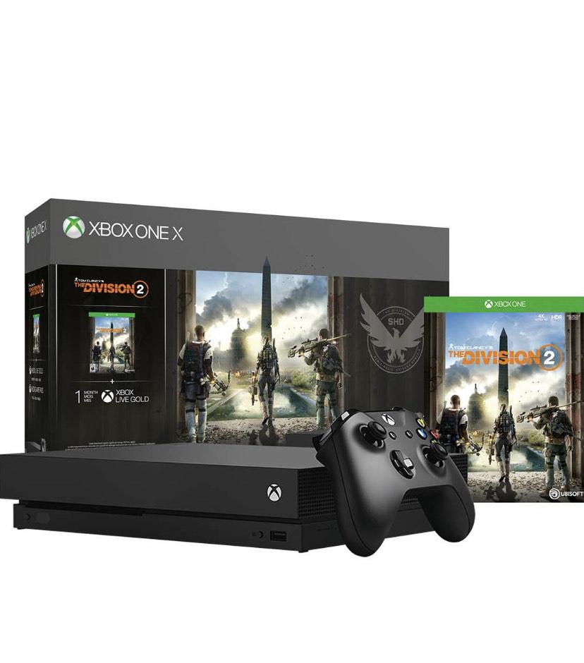 Amazon: Consola Xbox One X 1 tb con the Divison 2 (con tarjeta de Crédito Banorte o citibanamex)