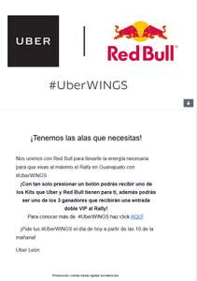 Uber: kit de Red Bull y Uber en León Gto.