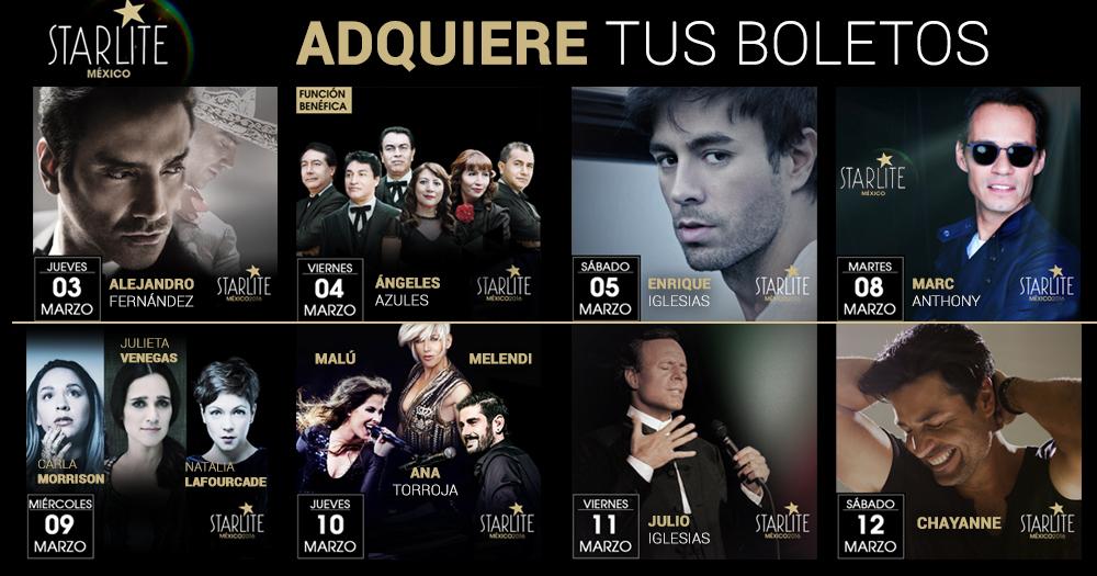 2x1 en Ticketmaster marzo 3: Starlite México (Enrique Iglesias, Marc Anthony, Alejandro Fernández, etc) y más