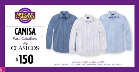 Artículo de la semana Suburbia: camisa para caballero a $150