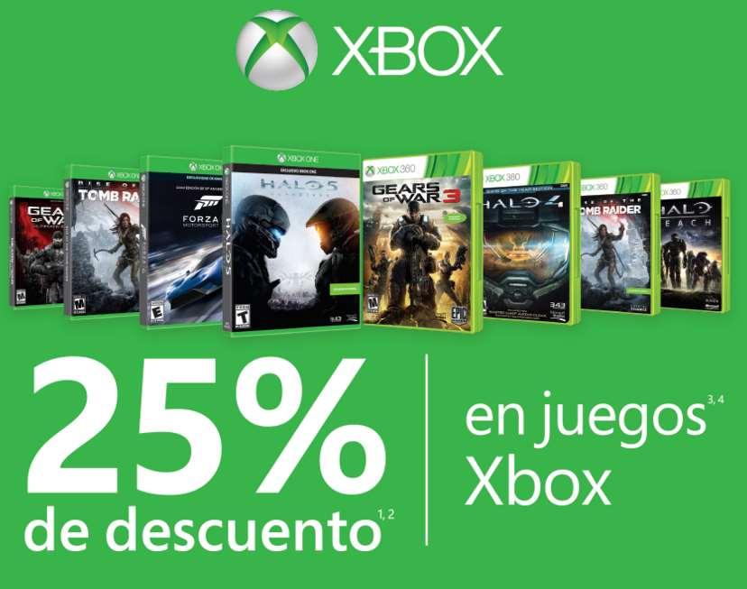 25% de descuento en juegos y accesorios para Xbox 360 y Xbox One (varias tiendas)