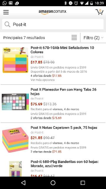 Amazon MX: señaladores de colores con hasta 76% de descuento