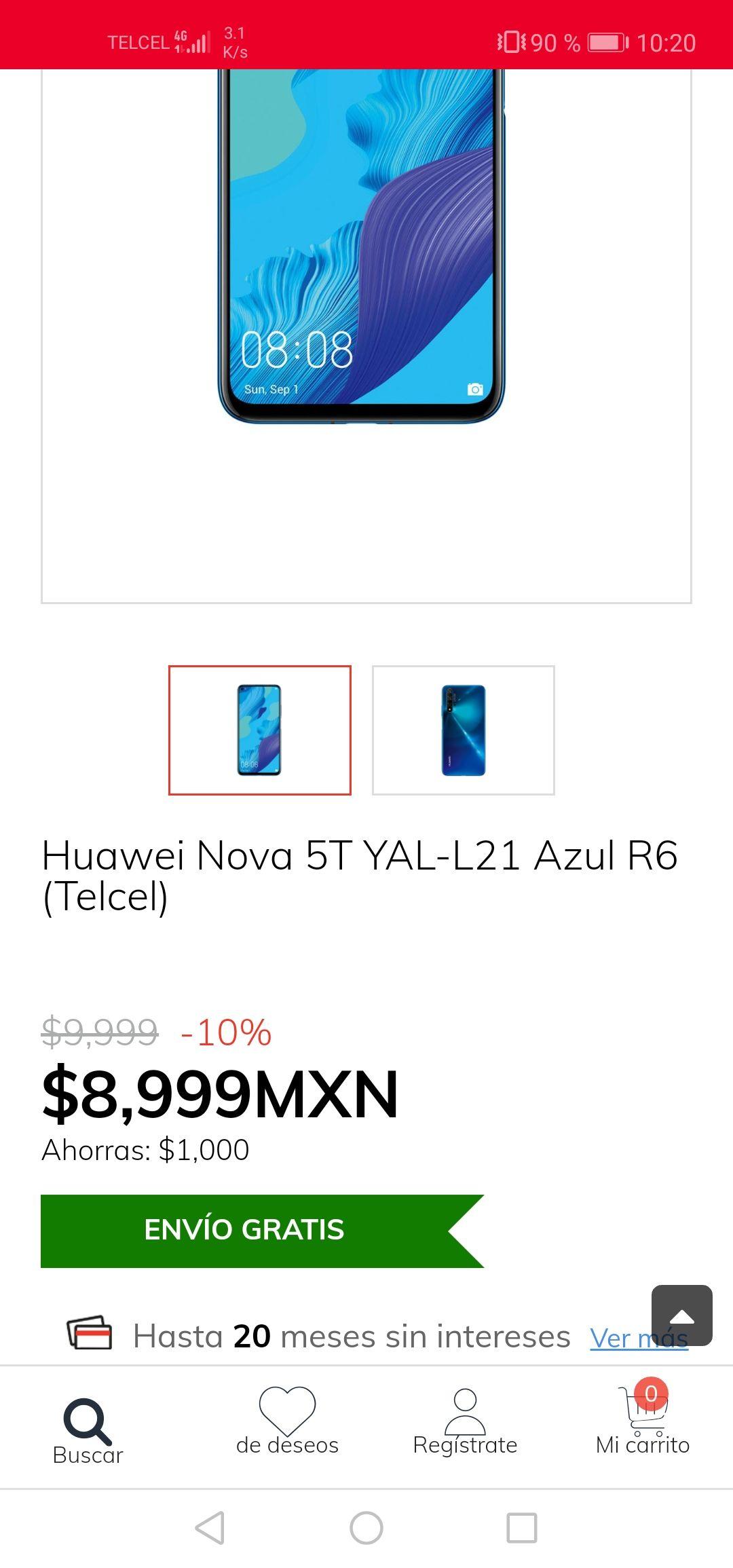 Claro Shop: Nova 5T Telcel