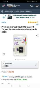 Amazon: Memoria Adata 32 GB