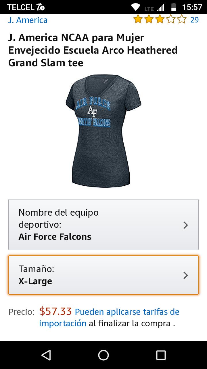 Amazon: J. America NCAA para Mujertalla grande
