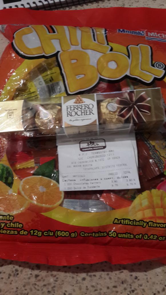 Chedraui Churubusco DF: dulces de tamarindo a $6.70, chocolates ferrero a $3.80 y más.