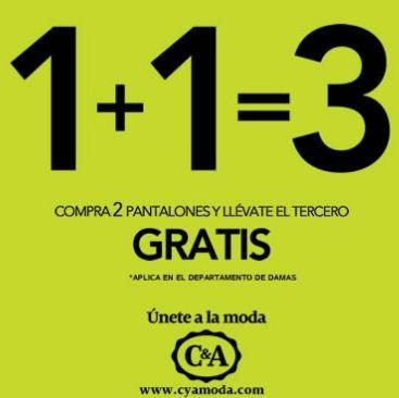 C&A: 3x2 en pantalones para mujer