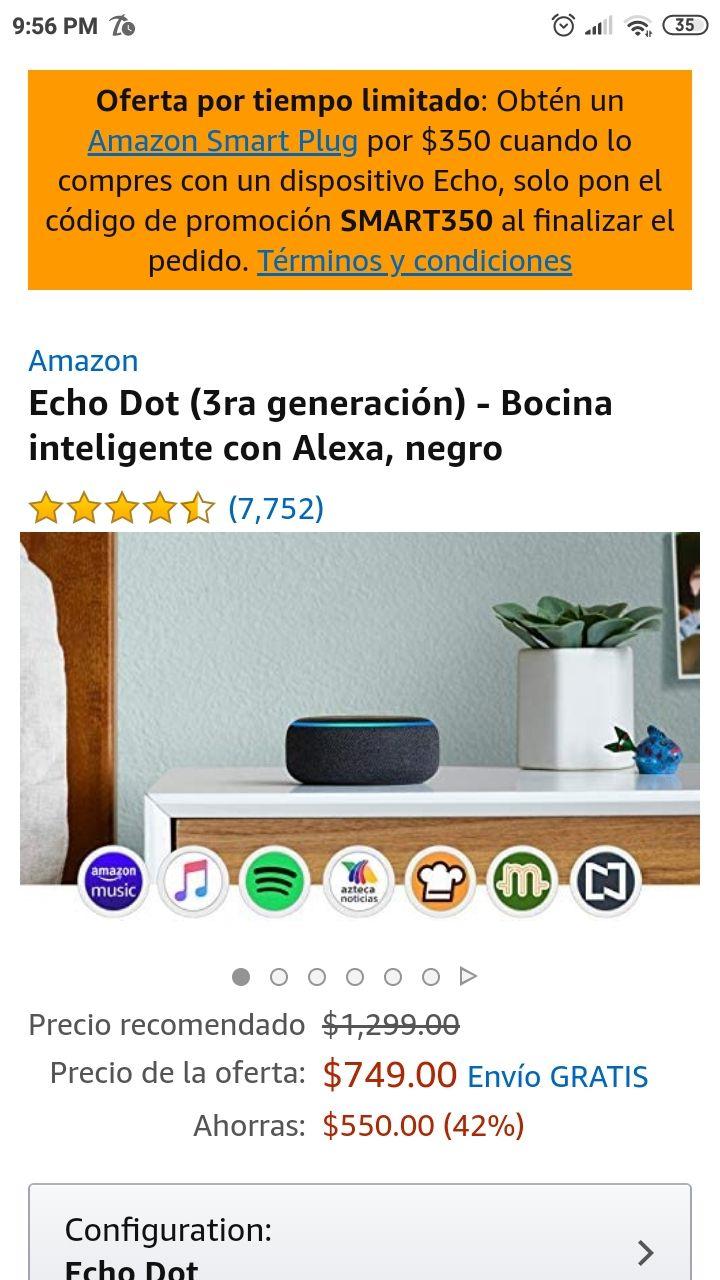 Amazon: Echo dot 3ra generación