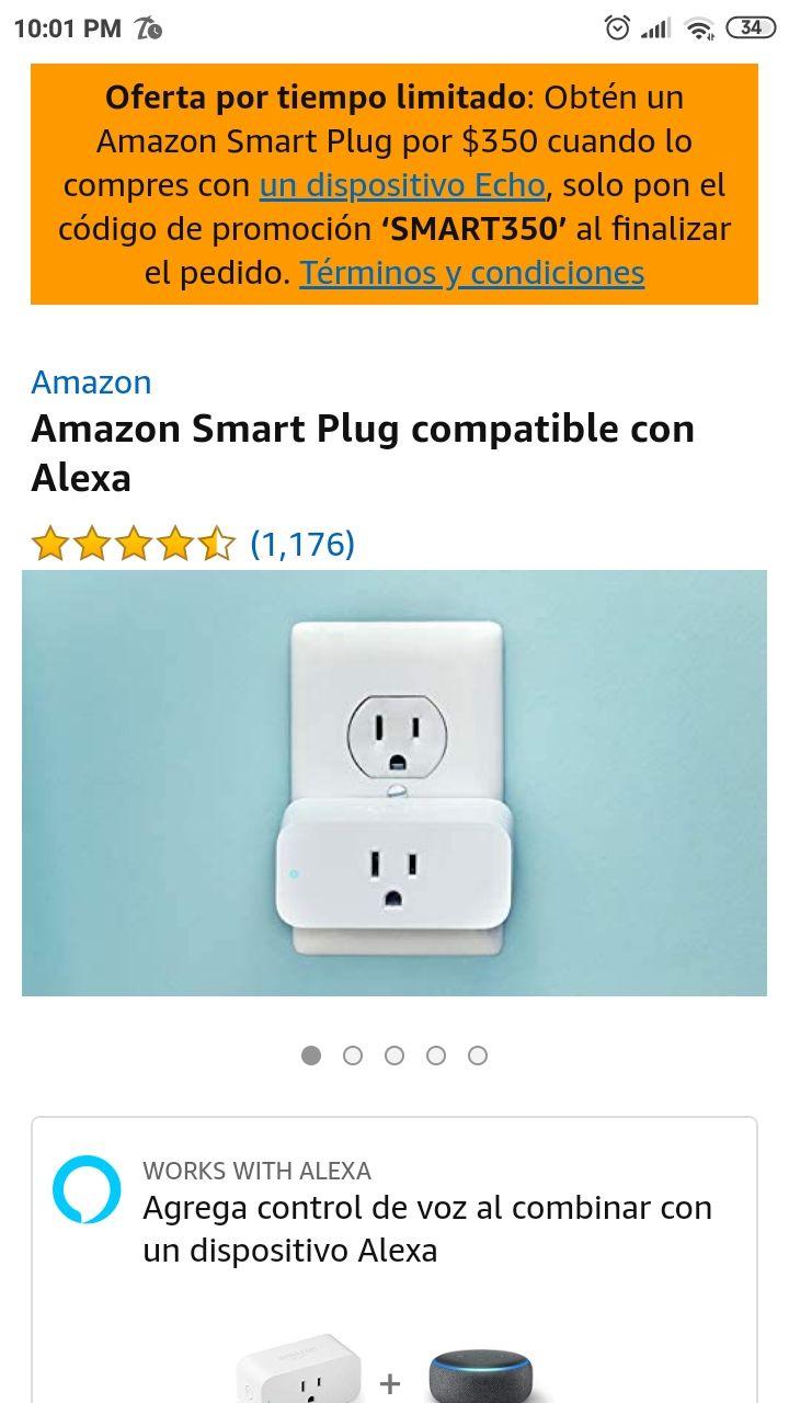 Amazon: Smart Plug a $350 (usuarios seleccionados)