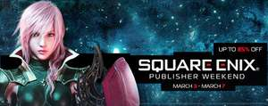 "STEAM : Hasta 85% de descuento en juegos del editor Square Enix ""Publisher Weekend"""