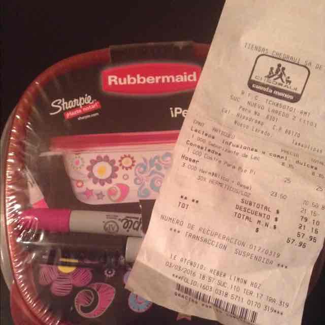 Chedraui: Combo de herméticos Rubermaid con plumón sharpe de regalo a $23.50