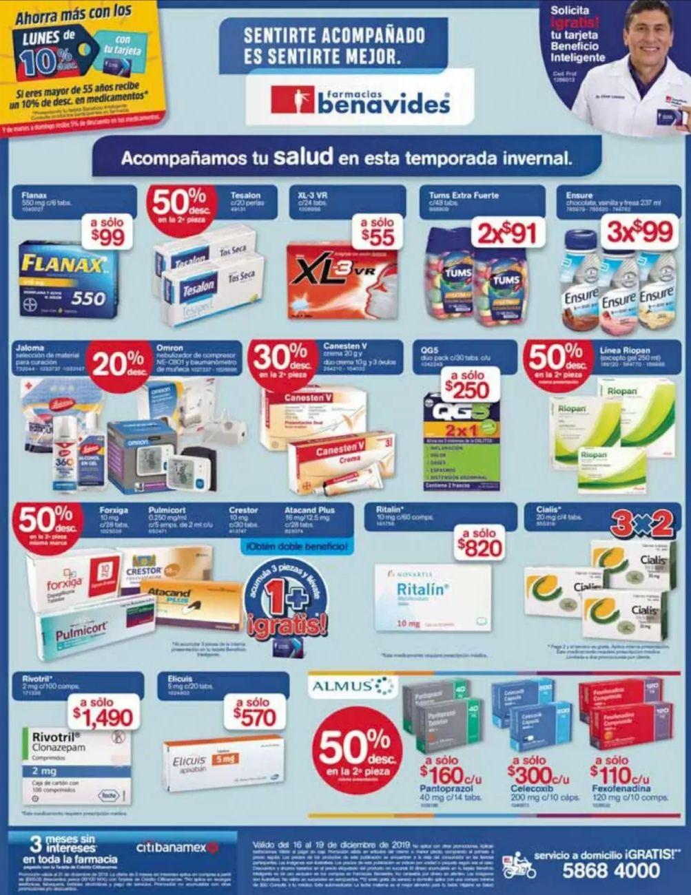 Farmacias Benavides: Ofertas del Lunes 16 al Jueves 19 de Diciembre