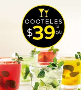 California Pizza Kitchen: Cocteles $39 después de las 6pm