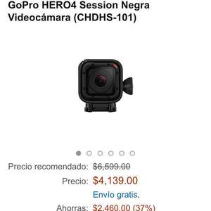 Amazon: GoPro HERO4 Session Negra