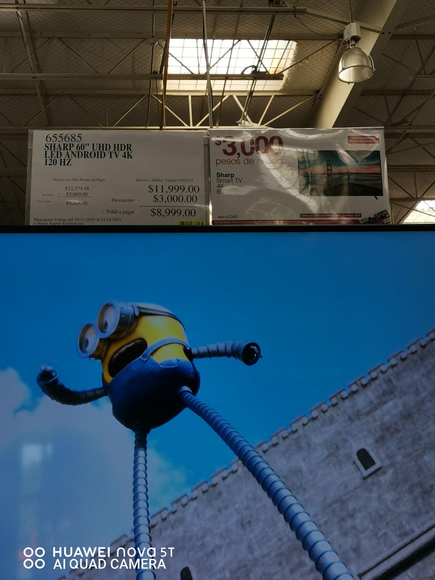 Costco San Luis Potosí: Sharp 4k smart tv 60''
