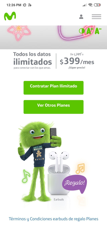 Movistar, audífonos inalámbricos gratis al contratar plan ilimitado de $399