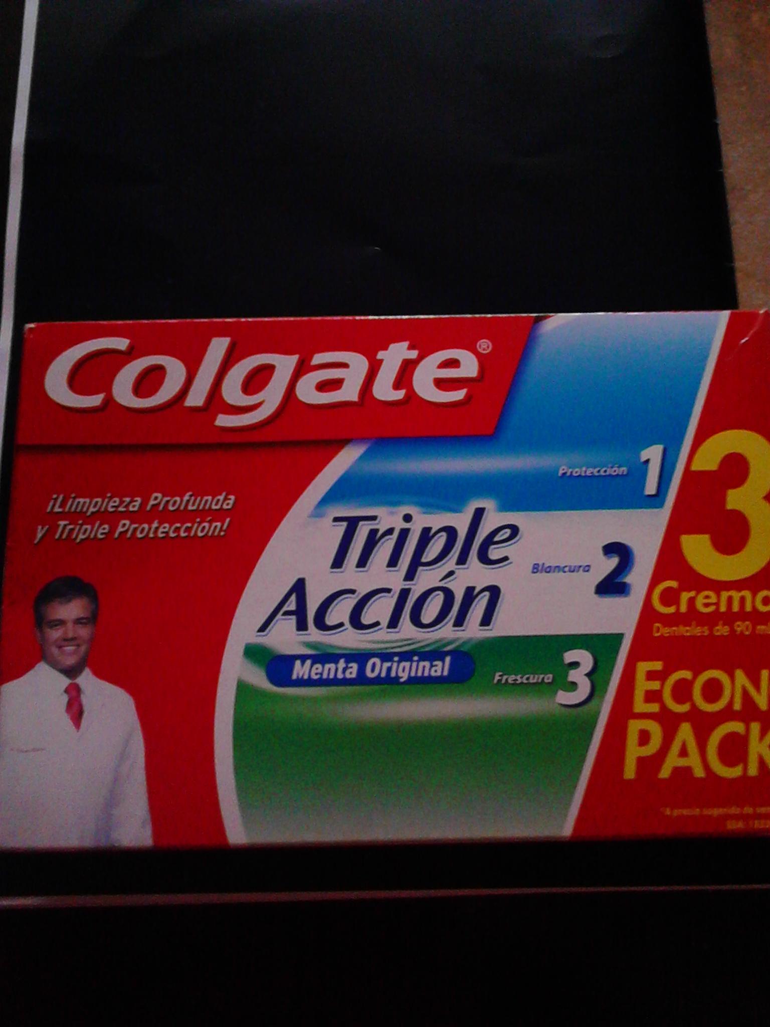 Walmart Unidad Horizonte: paquete con 3 pastas dentales Colgate de 90ml c/u a $12