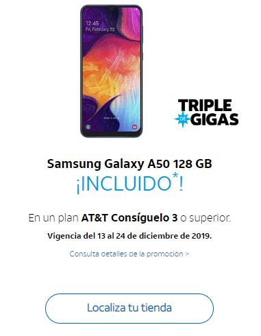AT&T Samsung Galaxy A50 Gratis al contratar Plan Consiguelo 3