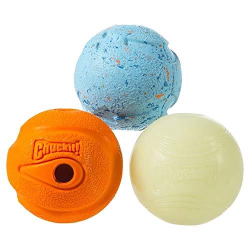 Amazon: Chuckit! Fetch Medley - Pelotas de Golf (3 Unidades), Multicolor, Medium, 2.5-Inch, 3-Pack