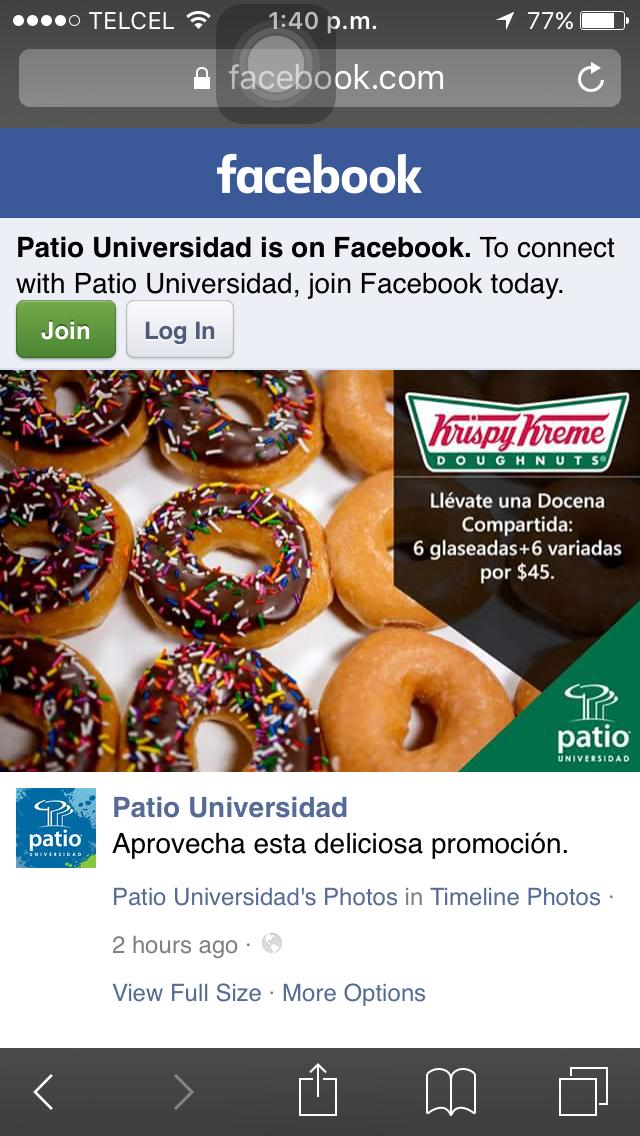 Krispy Kreme: Docena a $45, solo en Patio Universidad
