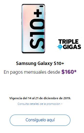 AT&T Samsung Galaxy S10+ al contratar Plan Consiguelo