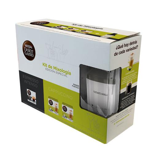 Chedraui en línea: Nescafé Dolce Gusto caja Espresso Intenso más 2 cajas Capuccino y Shaker + Caja de capsulas a escoger gratis