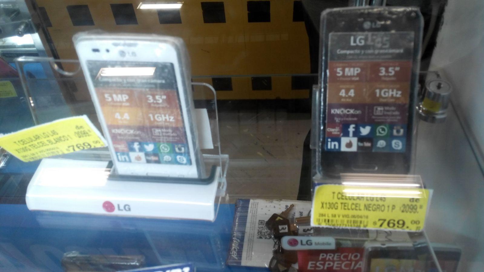 Soriana ejercito tampico: celular LG X130G a $799