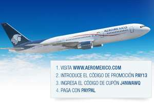 12% de descuento en Aeroméxico y palomitas gratis en Cinépolis con PayPal