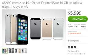 Groupon: iPhone 5s 16GB a $5,999